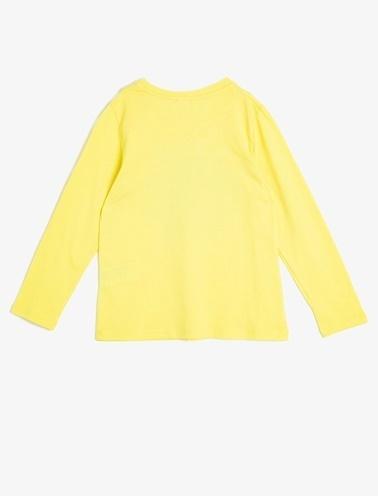 Koton Kids Pul Detayli T-Shirt Sarı